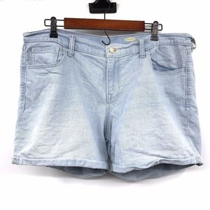 Old Navy Light Blue Cuffed Sweetheart Denim Shorts